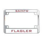 Metal Motorcycle License Plate Frame in Chrome-Saints