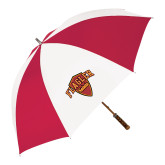 62 Inch Red/White Vented Umbrella-Primary Mark