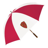 62 Inch Red/White Vented Umbrella-Secondary Mark