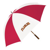 62 Inch Red/White Vented Umbrella-Flagler Arched