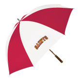 62 Inch Red/White Vented Umbrella-Saints Arched