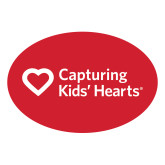 Medium Decal-Capturing Kids Hearts, 8 inches wide