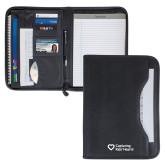 Wall Street Black Zippered Padfolio-Capturing Kids Hearts