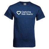 Navy T Shirt-Capturing Kids Hearts