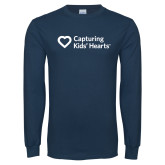 Navy Long Sleeve T Shirt-Capturing Kids Hearts