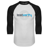 White/Black Raglan Baseball T Shirt-Leadworthy