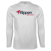 Syntrel Performance White Longsleeve Shirt-Flippen Group