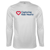 Syntrel Performance White Longsleeve Shirt-Capturing Kids Hearts