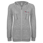 ENZA Ladies Grey/Black Marled Full Zip Hoodie-Flippen Group