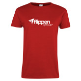 Ladies Red T Shirt-Flippen Group