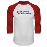 White/Red Raglan Baseball T Shirt-Capturing Kids Hearts