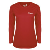 Ladies Syntrel Performance Red Longsleeve Shirt-Flippen Group