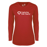 Ladies Syntrel Performance Red Longsleeve Shirt-Capturing Kids Hearts