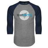 Grey/Navy Raglan Baseball T Shirt-Leadworthy