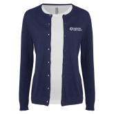 Ladies Navy Cardigan-Capturing Kids Hearts