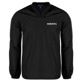 V Neck Black Raglan Windshirt-Leadworthy