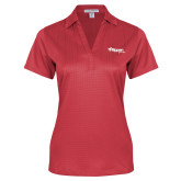 Ladies Red Performance Fine Jacquard Polo-Flippen Group