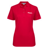 Ladies Easycare Red Pique Polo-Flippen Group