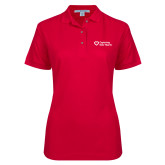 Ladies Easycare Red Pique Polo-Capturing Kids Hearts