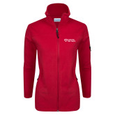 Columbia Ladies Full Zip Red Fleece Jacket-Capturing Kids Hearts