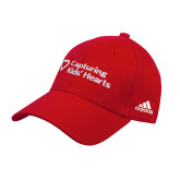 Adidas Red Structured Adjustable Hat-Capturing Kids Hearts