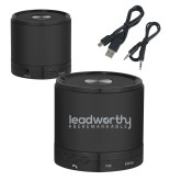 Wireless HD Bluetooth Black Round Speaker-Leadworthy Engraved