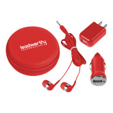 3 in 1 Red Audio Travel Kit-Leadworthy