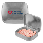 Silver Rectangular Peppermint Tin-Capturing Kids Hearts