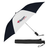 42 Inch Slim Stick Black/White Vented Umbrella-Flippen Group