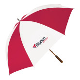 62 Inch Red/White Vented Umbrella-Flippen Group