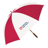 62 Inch Red/White Vented Umbrella-Capturing Kids Hearts