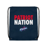 Navy Drawstring Backpack-Patriot Nation