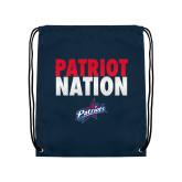 Navy Drawstring Backpack-Patriot Nation