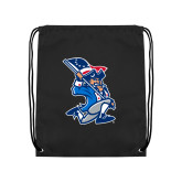 Black Drawstring Backpack-The Patriot