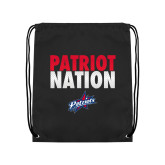 Black Drawstring Backpack-Patriot Nation