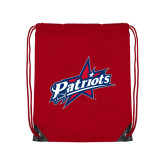 Red Drawstring Backpack-Patriots Star
