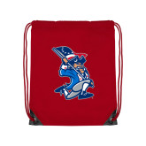 Red Drawstring Backpack-The Patriot
