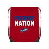 Red Drawstring Backpack-Patriot Nation