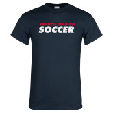 Navy T Shirt-Soccer Stacked