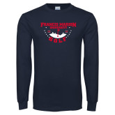 Navy Long Sleeve T Shirt-Golf With Stars