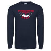 Navy Long Sleeve T Shirt-Golf With Stars