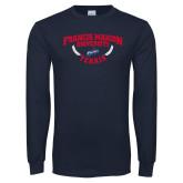 Navy Long Sleeve T Shirt-Tennis Branch