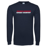Navy Long Sleeve T Shirt-Cross Country Stacked