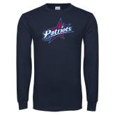 Navy Long Sleeve T Shirt-Patriots Star