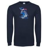 Navy Long Sleeve T Shirt-The Patriot