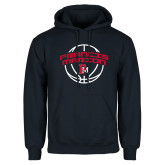 Navy Fleece Hoodie-Basketball Arched FM