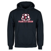 Navy Fleece Hoodie-Soccer Geometric Ball FM