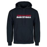 Navy Fleece Hoodie-Basketball Stacked