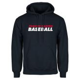 Navy Fleece Hoodie-Baseball Stacked