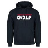 Navy Fleece Hoodie-Golf Stacked
